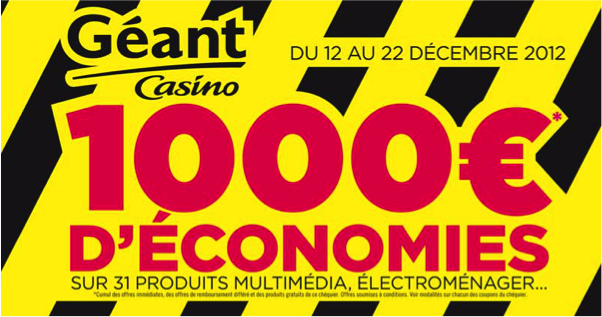 Coupons reduction geant casino