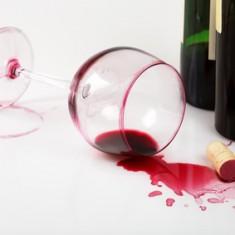 Verre de vin tache