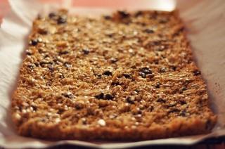 Une barre de granola