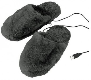Pantoufles chauffantes USB