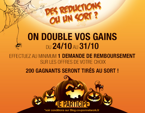 Doublement des gains Halloween Coupon Network