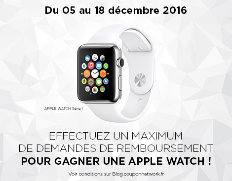 Jeu concours Apple Watch Coupon Network