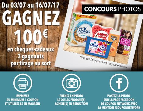 Jeu concours photos coupon network